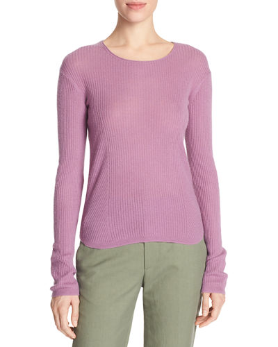 Cashmere Ribbed Cropped Sweater