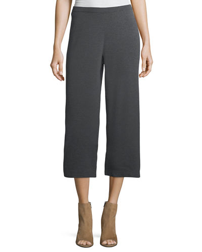 Eileen Fisher Washable Wool Crepe Cropped Pants, Plus