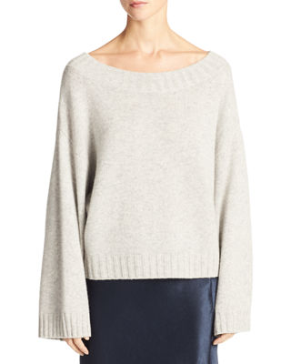 Vince Cashmere Boxy Pullover Sweater