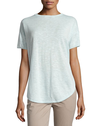 Short-Sleeve Organic Slub Top