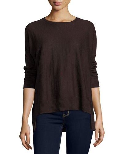 Eileen Fisher Long-Sleeve Alpaca Box Top