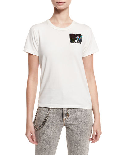Classic Sequined MTV Tee