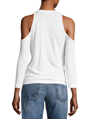 Cold-Shoulder 3/4-Sleeve Tee