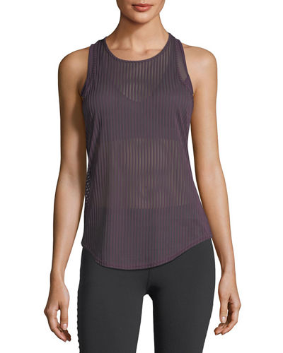 Essence Striped Semisheer Performance Tank