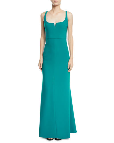 Constance Sleeveless Trumpet Evening Gown