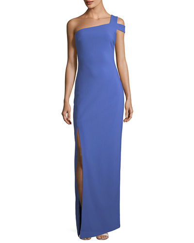 Likely maxson one shoulder column evening gown junglespirit Choice Image