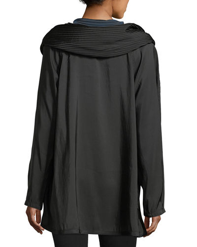 Mini Donatella Reversible Pleat Hood Packable Jacket