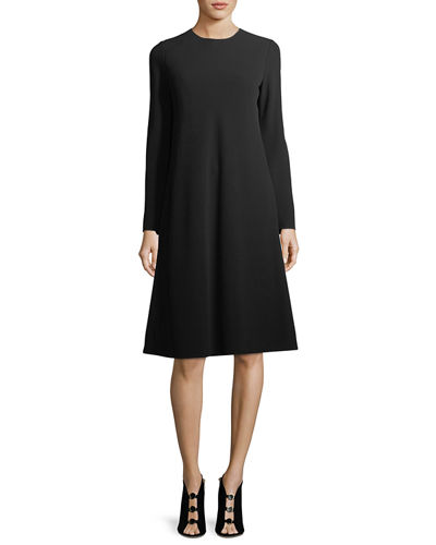 Kalitta 3/4-Sleeve Finesse Crepe Dress