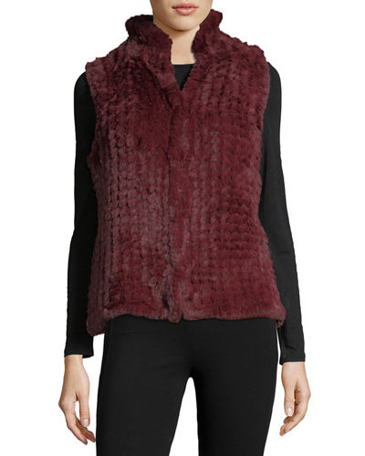 Faux-Fur Knitted Vest