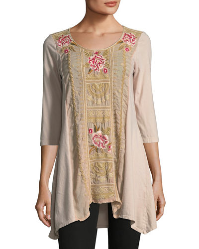 Leith Embroidered Panel Tunic