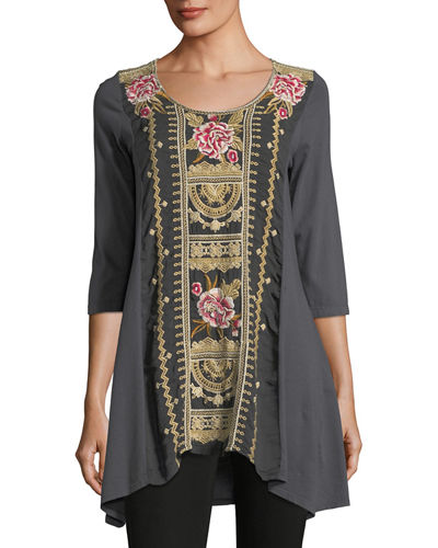 Leith Embroidered Panel Tunic, Plus Size