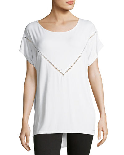 Glider Ladder-Stitch Jersey Tee