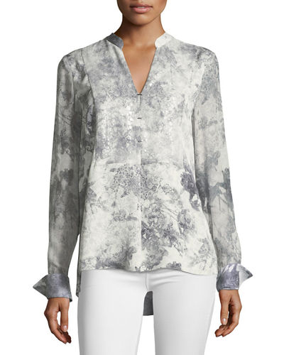 Nori Silk Printed Blouse