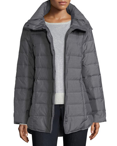 Eileen Fisher Melange Quilted Down Jacket, Petite