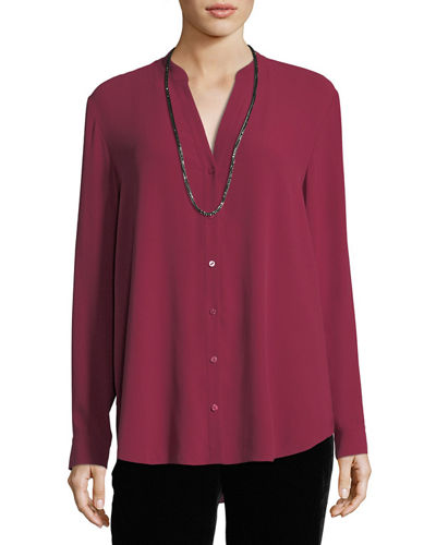 Silk Georgette Crepe Top