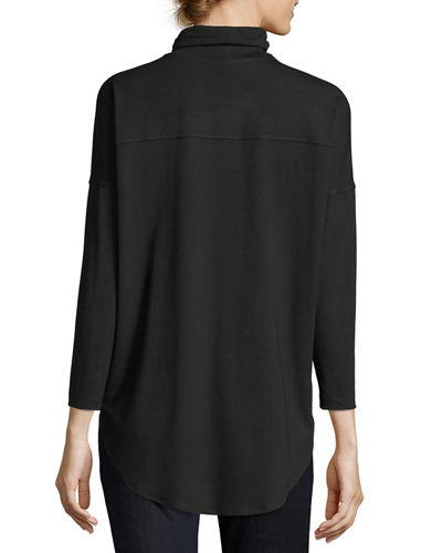 Viscose Jersey Turtleneck Tunic, Petite