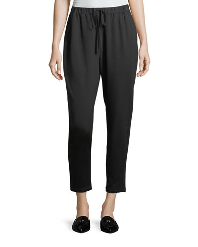 Terry Slouchy Ankle Pants, Plus Size
