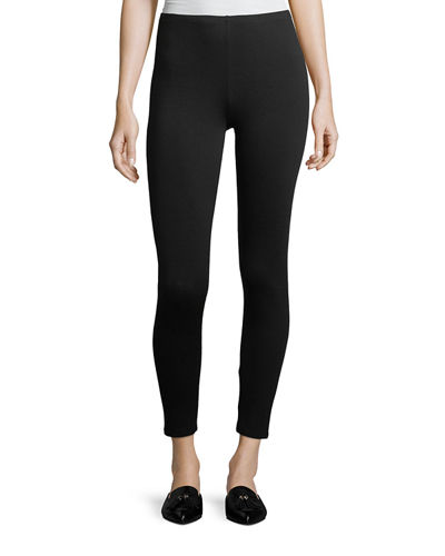 Stretch Terry Ankle Leggings, Plus Size