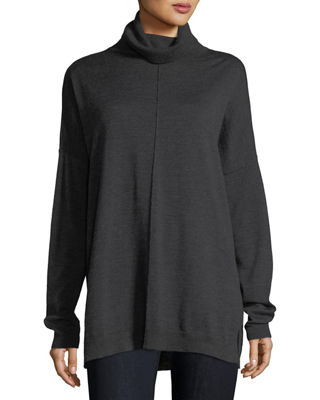 Eileen Fisher Fine Merino Turtleneck Box Top, Plus Size