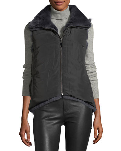 High-Low Reversible Fur Vest