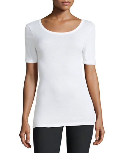 Scoop-Neck Ringer Tee
