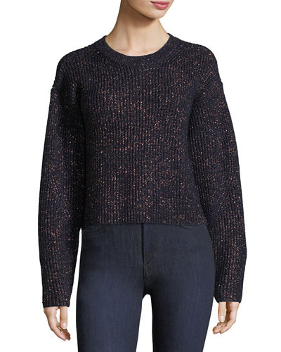 Jubilee Metallic Crewneck Sweater
