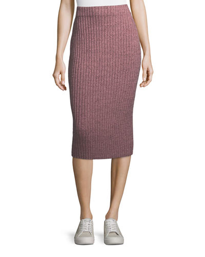 Jubilee Ribbed Metallic Midi Skirt