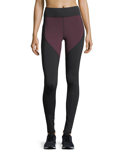 Cadence Colorblocked Full-Length Performance Leggings