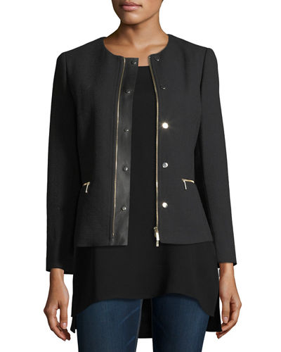Kerrington Leather-Trim Jacket