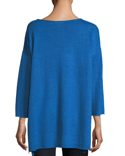 Organic Linen 3/4-Sleeve Top