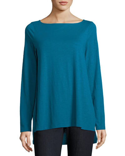 Slubby Organic Cotton Top, Plus Size