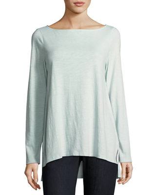 Eileen Fisher Slubby Organic Cotton Top, Plus Size