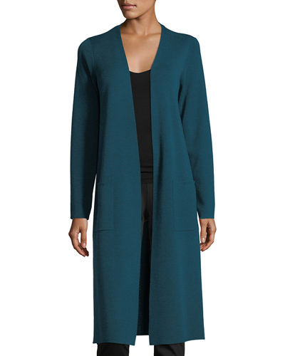 Fine Merino Long Cardigan, Plus Size