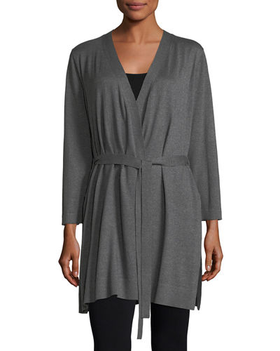Belted Simple Cardigan
