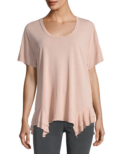 The Tier Short-Sleeve Cotton Top
