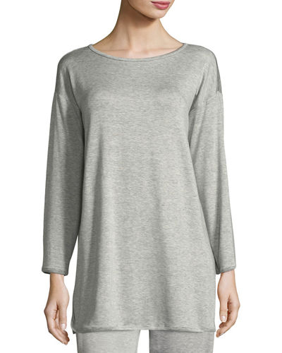 Terry Stretch Long-Sleeve Top