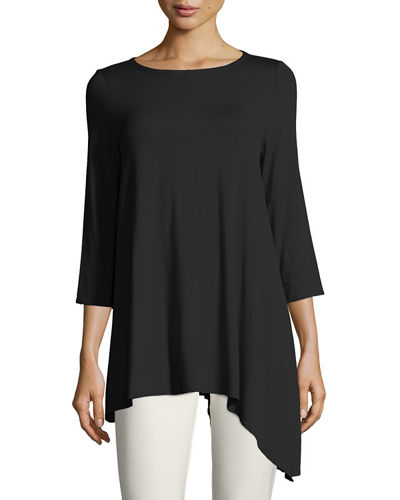 Asymmetric Lightweight Jersey Long Top
