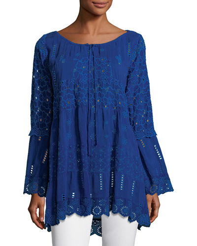 Mixed Tiered Tunic, Petite