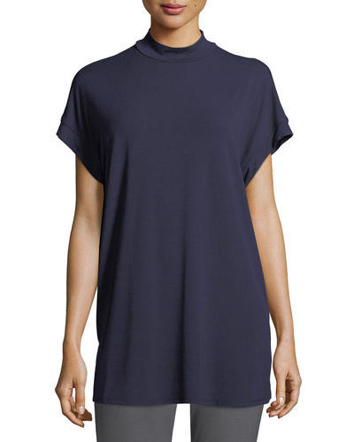 Lightweight Jersey Cap-Sleeve Top