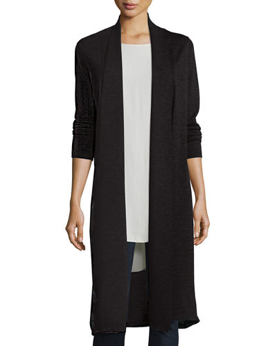 Eileen Fisher Washable Wool Kimono Duster Cardigan, Plus Size