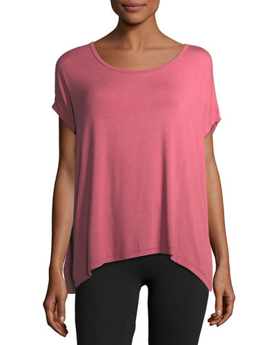 Back Out Strappy Short-Sleeve Tee