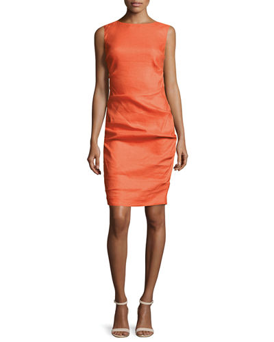 Lauren Sleeveless Ruched Dress