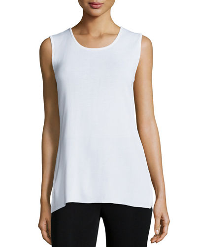 Round Sleeveless Tank, Plus Size