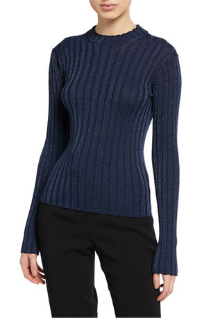 Vince Ribbed Pullover Sweater