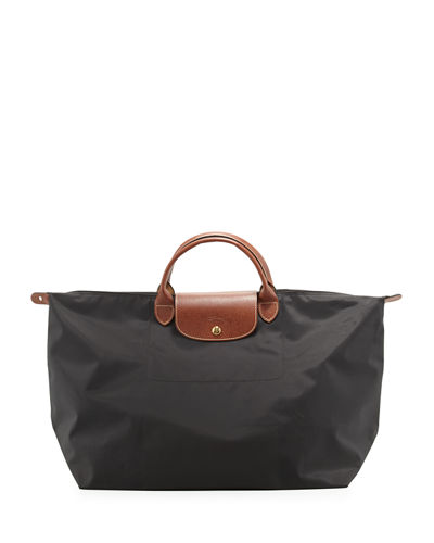 Le Pliage Monogrammed Large Travel Tote Bag
