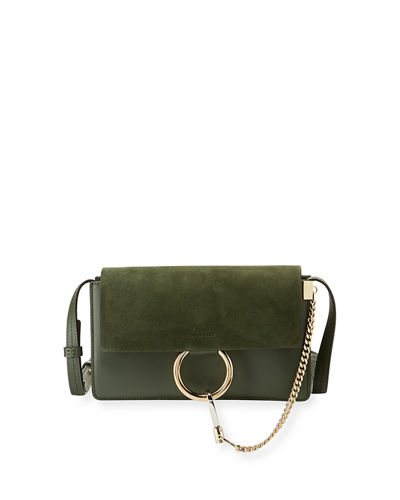 Faye Small Suede/Leather Shoulder Bag