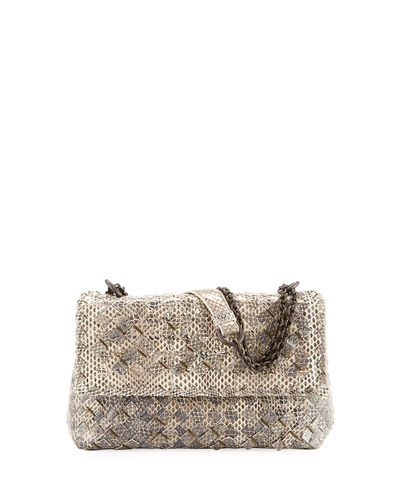 Baby Olimpia Snakeskin Shoulder Bag