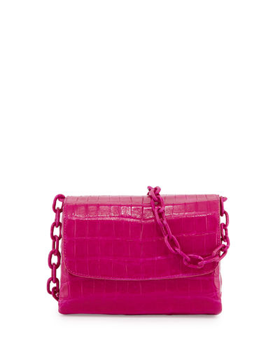 Crocodile Triple-Gusset Mini Crossbody Bag