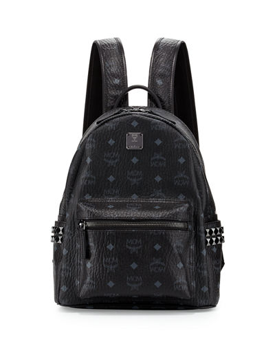 Stark Visetos Small Side-Stud Backpack, Pink