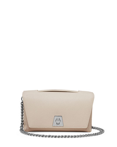 Leather Chain-Strap Flap Bag